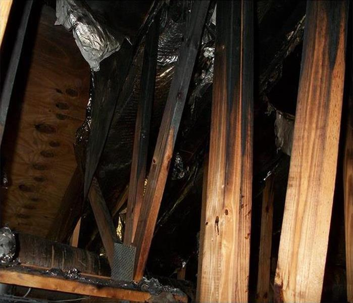 Fire and Charring in a Metairie Attic
